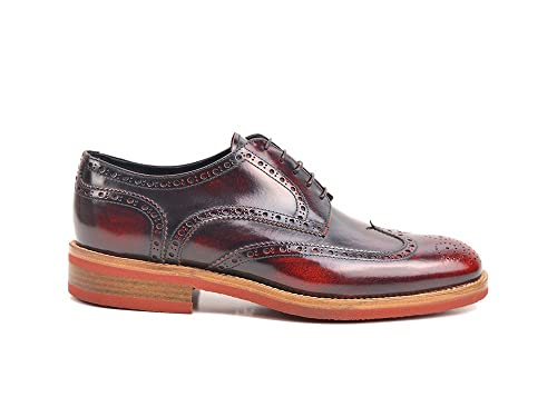 best service 6e239 b9636 Volta - Derby Uomo Pelle Spazzolata Rossa: Amazon.it: Scarpe ...