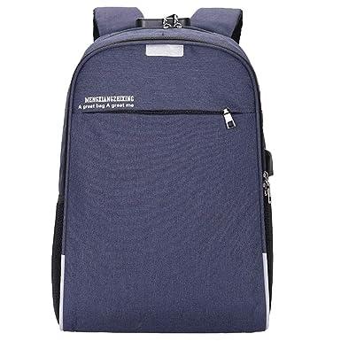 JiaMeng Mujer Trabajo Casual Backpack Antirrobo Impermeable Mochila Unisex USB Bolso Informal Mochila Bolsa de Viaje Mochila de Negocios: Amazon.es: Ropa y ...