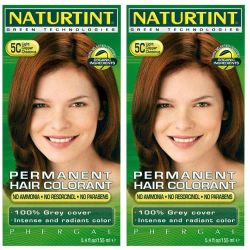 (2 Pack) - Naturtint - Hair Dye - 5C Light Copper Chestnut   135ml   2 PACK BUNDLE