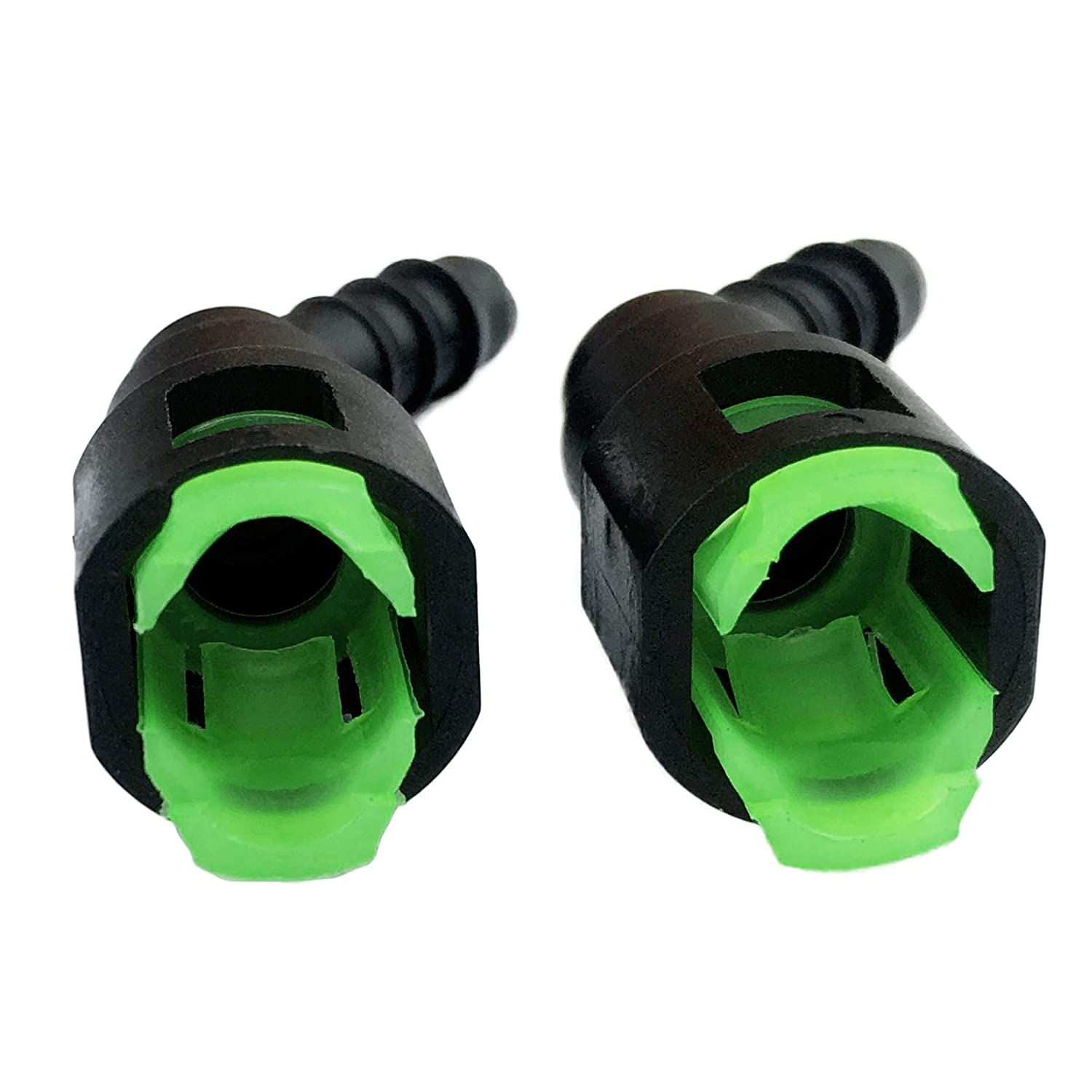 Fuel Line Tee Connector for 5//16 OD Nylon Tubing Hose Union T Quick Connect Fit for 8mm OD Nylon Tube//Gas Line Pack of 2