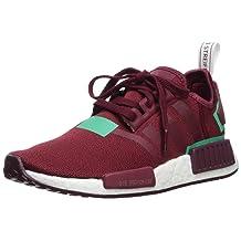 adidas Originals Women's NMD_R1 Running Shoe Collegiate Burgundy/Green, 10 M US