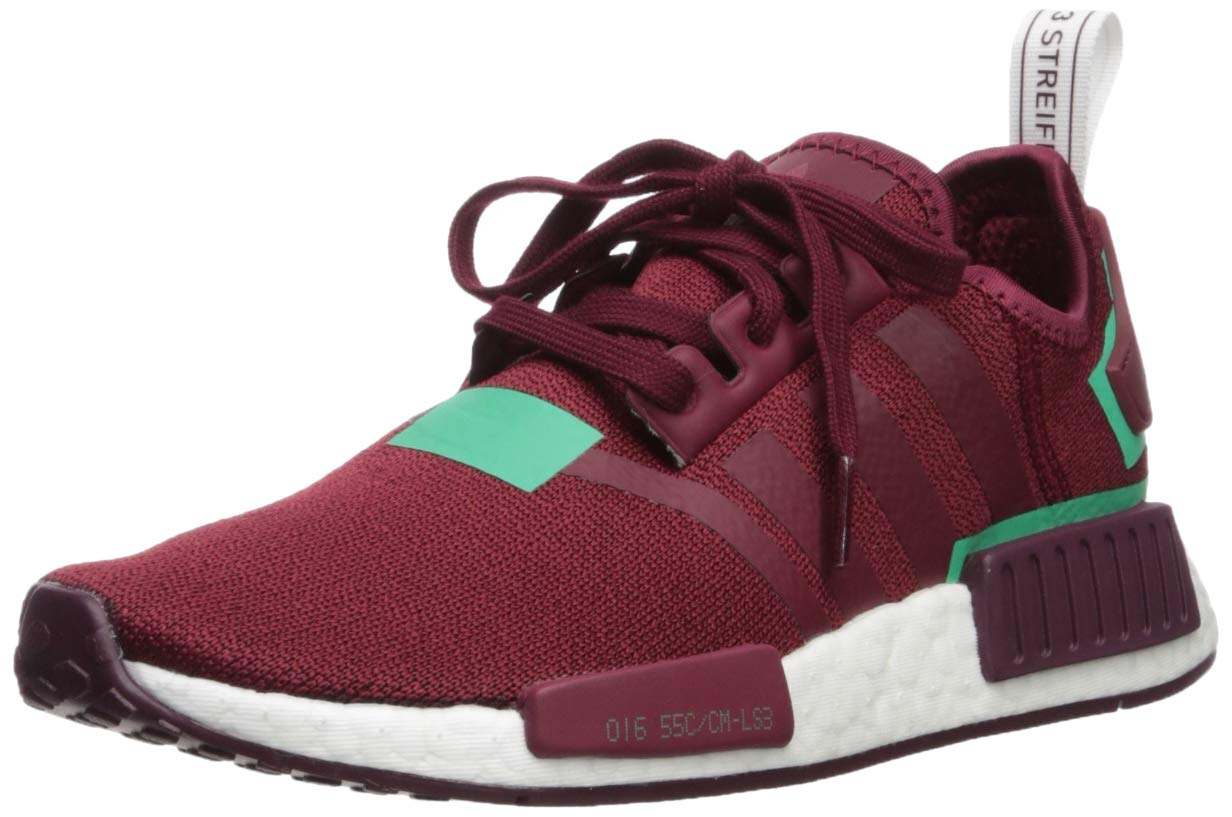 adidas Originals Women's NMD_R1 Running Shoe Collegiate Burgundy/Green, 5 M US