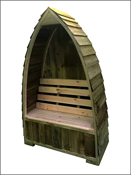 Gothic Arch//Boat shaped Log Store Delivered Fully Assembled