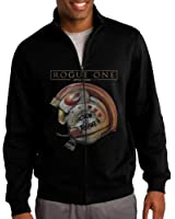 Men's Rogue One A Star Wars Story Casual Outdoor Blend Full Front-Zip Short Coat Jacket Sweatshirt
