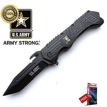 Amazon.com: Cuchillo táctico fuerte de combate con muelle ...