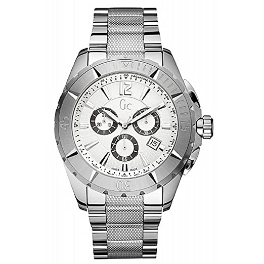 Reloj Guess Collection Gc Sport Class Xxl X53001g1s Hombre Blanco: Amazon.es: Relojes