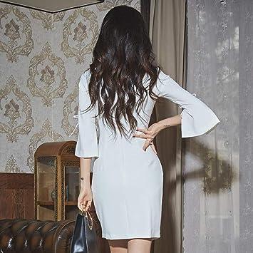 JJHR elegancka sukienka na sznurowadła Split Blazer damska sukienka jesień dwurzędowa sukienka Office smukła sukienka damska, m: Sport & Freizeit