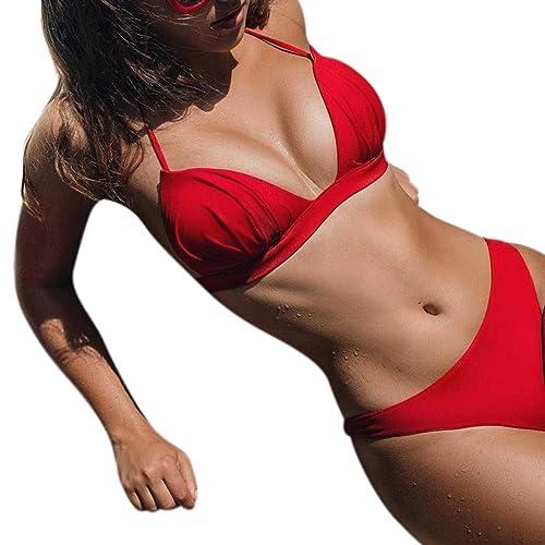 c48a21a84442 Traje de Baño Mujeres Sujetador Triángulo Tangas Sexy para Mujer ...