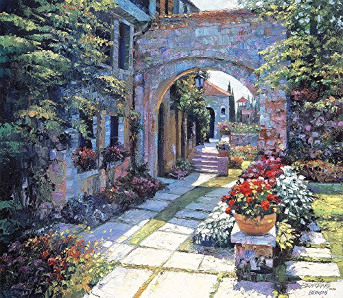 [VILLA MORNING by Howard Behrens Signed & Numbered Limited Edition CANVAS] (Howard Behrens Villa)