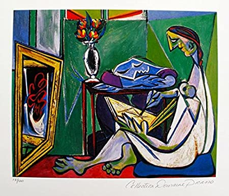 Pablo Picasso GIRL BEFORE A MIRROR Estate Signed /& Numbered Small Giclee Art