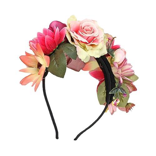 Baoblaze Damen Madchen Garland Blumen Krone Kranz Tiara Blumen