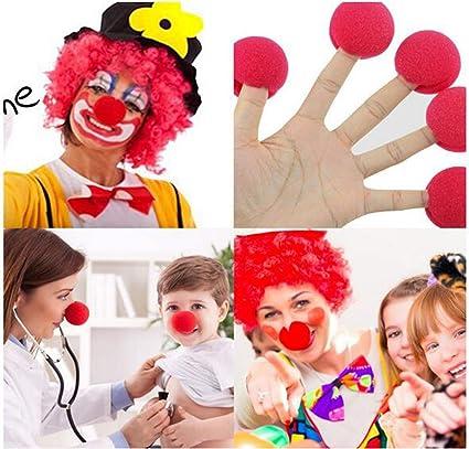 dancepandas Espuma Clown Nose, 50 Piezas Azul Red Nariz de Payaso ...