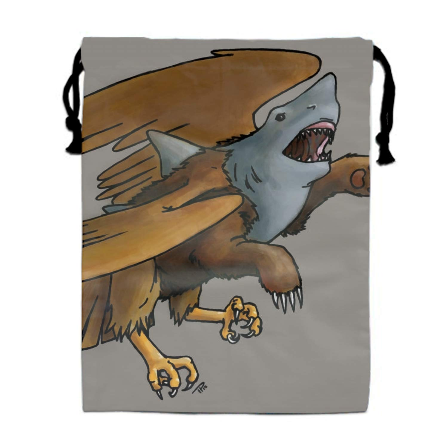 Vector Wolves Drawstring Travel Shoes Dust Storage Bags 11.8 /× 15.7