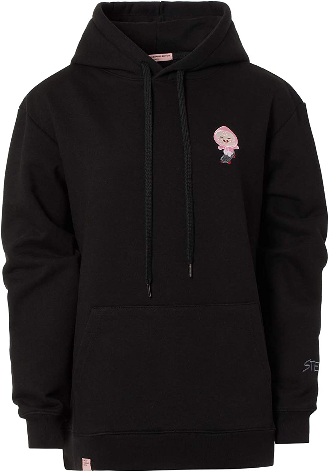 KAKAO FRIENDS Official- Apeach KangDaniel Edition Black Hoodie for Men and Women