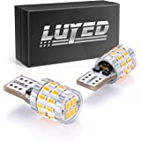 LUYED 2 X 400 Lumens Extremely Bright 9-30v 3014 30-EX Chipsets Canbus W5W 194 168 2825 Led Bulbs,Amber(Newest heat dissipati