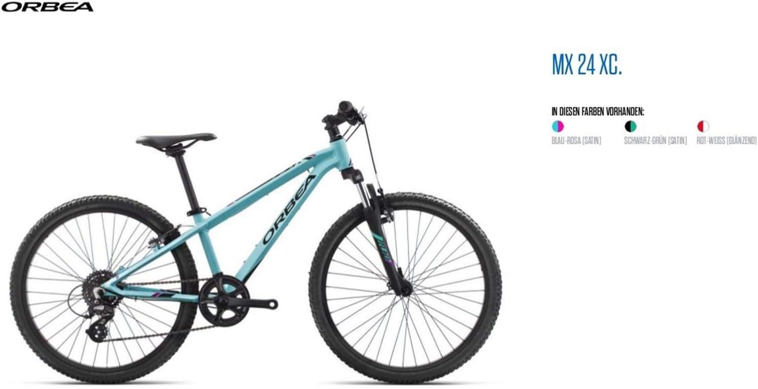 Orbea MX 24 XC Niños Bicicleta 24 pulgadas 8 velocidades montaña Cilindro de aluminio Mountain Bike, i016, color azul, tamaño talla única: Amazon.es: Deportes y aire libre