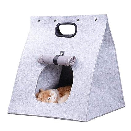 Garyxiyi Cama para Mascotas con Estilo La Mejor Cama Cueva de Cat, Lana de Merino