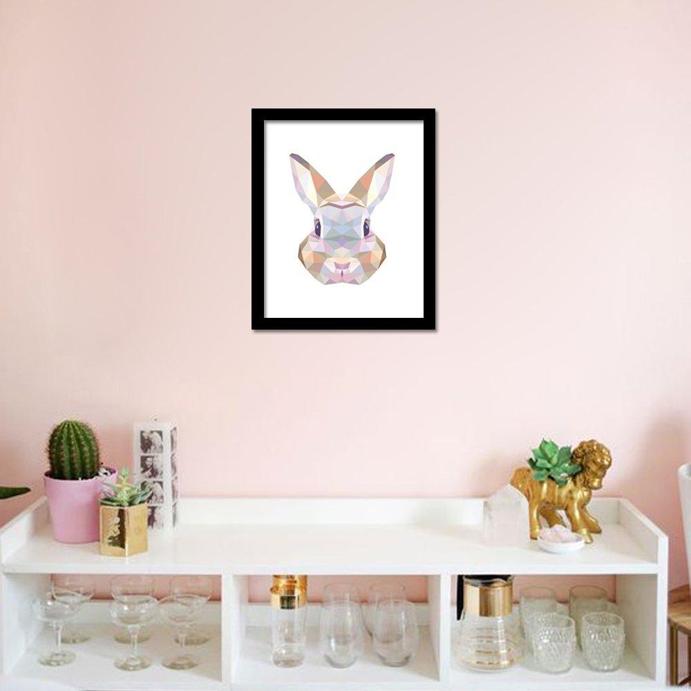 Funlife Lapin Impression sur toile Poster de peinture, mur de photos pour décoration, Home Decor Cp032, Toile, multicolore, no frame 30x40cm CP032M