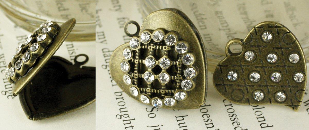 Tiny Treasures Vintage Trinkets Metal Charms-XO Heart 2/Pkg (並行輸入品) B0068RKSFQ