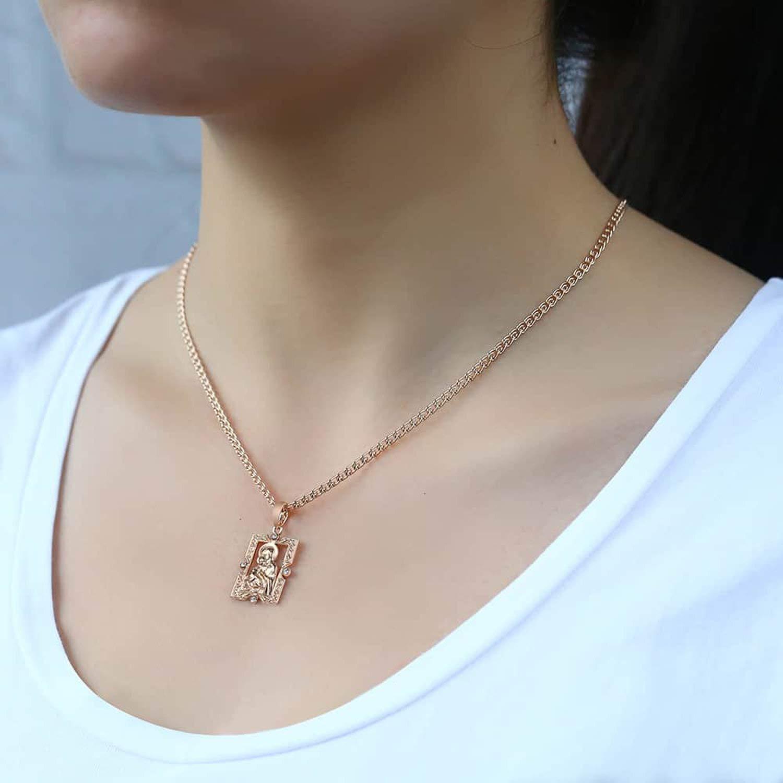 tcvncfshfs Pendant Necklace for Women Men Rose Gold Necklace Fashion Jewelry