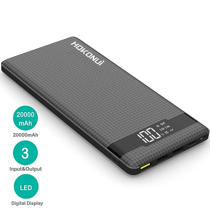 Hokonui - Cargador portátil de batería Externa de 20000 mAh ...