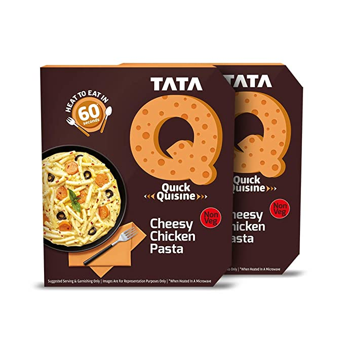 Tata Q Cheesy Chicken Pasta, 2 x 305 g