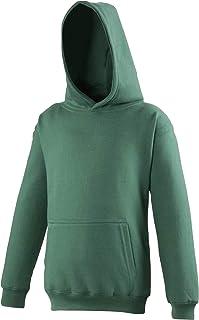 Adwis Kinder Unisex Kapuzen Pullover (7-8 Jahre) (Flaschengrün) UTRW169_84
