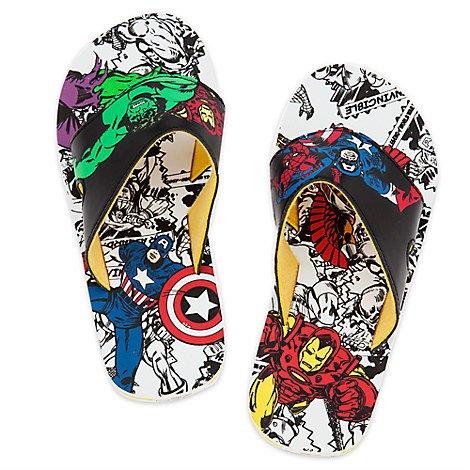 Avengers Disney Store Boys Marvels Flip Flops White