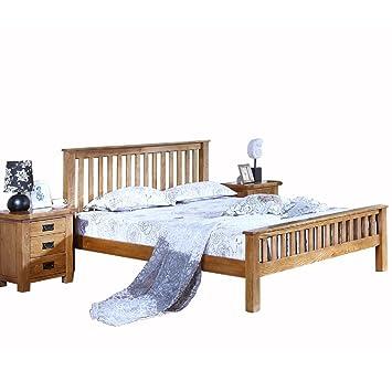 HUAYI Full muebles de madera maciza de roble cama American ...