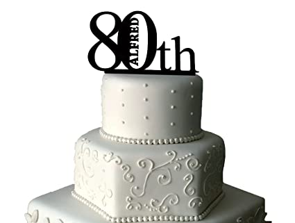 Image Unavailable Not Available For Colour 80th Birthday Cake