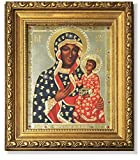 Byzantine Our Lady of Czestochowa Russian Icon Virgin of Czestohova 8 1/4 Inch