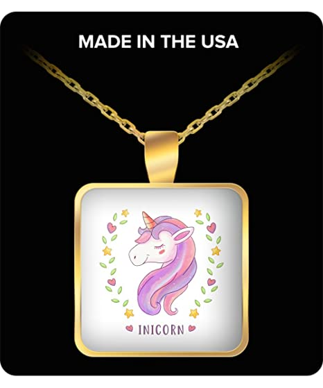 Amazon Com Unicorn Inicorn Pendant Necklace Gold Indian Men For