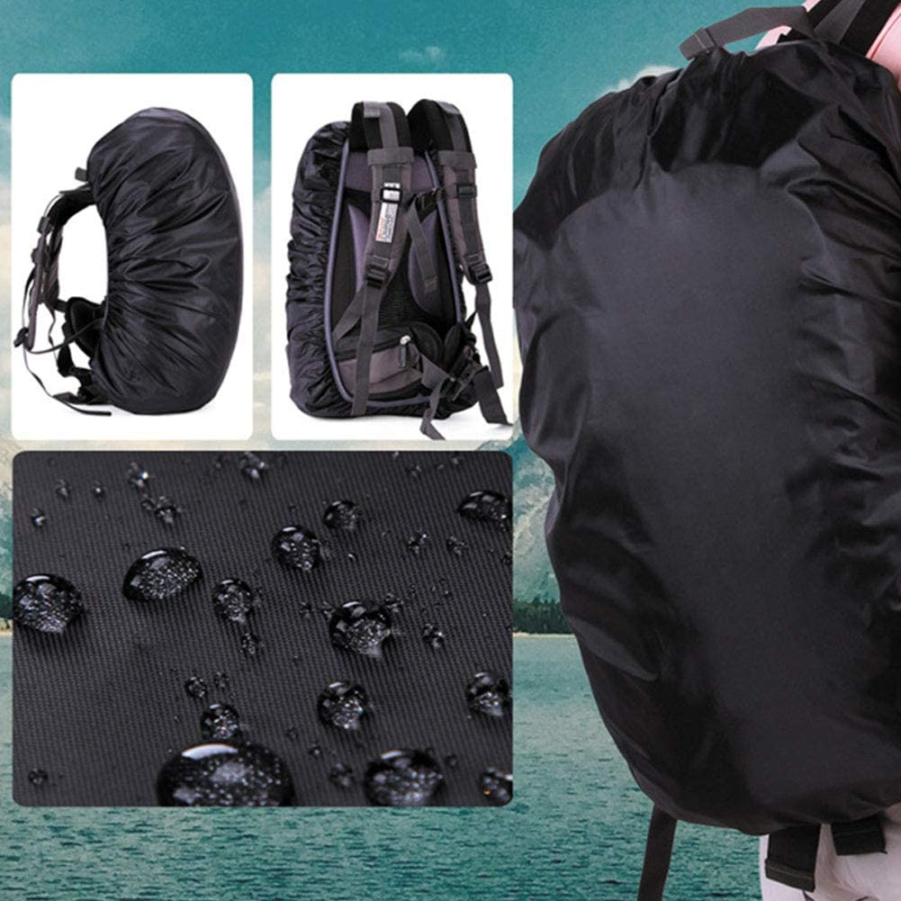 Solid Color Sports Backpack Rain-Cover Elastic 190T Fabric Waterproof-Cover Hiking Backpack Travel Backpack UV Protection Dust-Cover 35-70 L