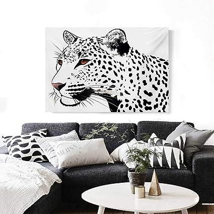 117f2ab7f902b Tattoo Canvas Print Wall Art Astonishing Big Cat Famous Symbol of The  Courage Leopard Head with