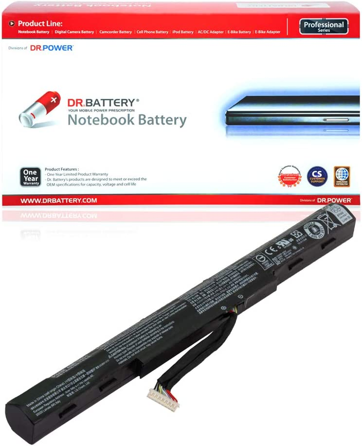 DR. BATTERY AS16A5K AS16A8K Battery Replacement Compatible with Acer Aspire E5-475 E5-475G E5-575 E5-575G E5-575T E5-575TG E5-774 E5-774G Series AS16A7K 4ICR19/66 [14.6V/2200mAh/32Wh]