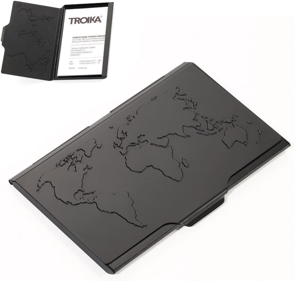 - CDC15-02//BK Negro Caja para Tarjetas de Visita Unisex Troika Negro