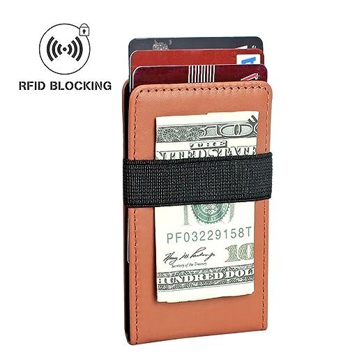 5d1ad9e37576f4 Aprince Minimalist Wallet Genuine Leather Wallet RFID Blocking Card Holder