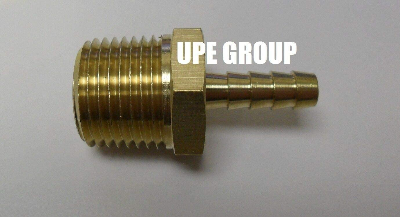 1//4 HOSE BARB X 1//2 MALE NPT Brass Fitting Gas Fuel Water Air 25 Pieces