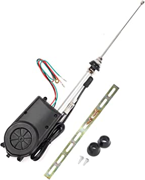 Antena de coche universal con amplificador automático de radio, kit de montaje de antena eléctrica, radio FM AM para coche