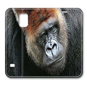 Leather Samsung Galaxy S5 Case Leather,Gorilla 02 Smart Case Cover for Samsung Galaxy S5 with Stand Feature Auto Wake Up / Sleep, Original Design And Made By PhilipHayes