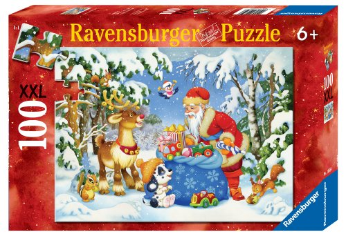Ravensburger Santa And His Pack 100 Piece Christmas Puzzle