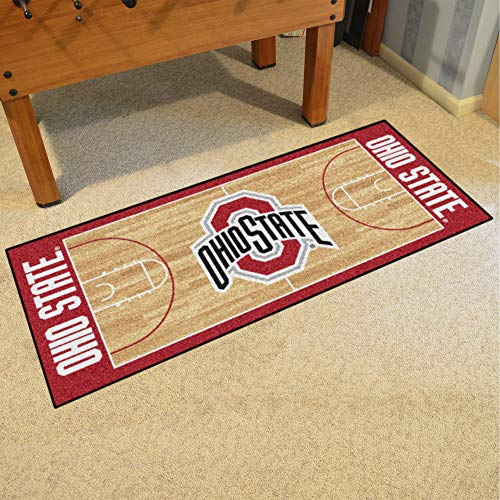 FANMATS NCAA Ohio State University Buckeyes Nylon Face Basketball Court Runner ()
