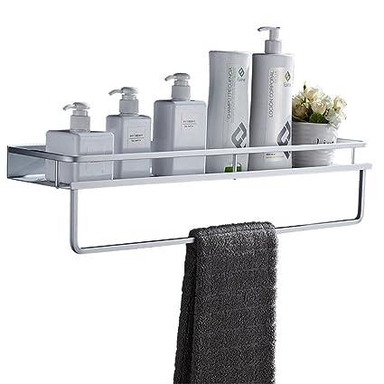 Cuarto de baño estante sin puntas barra de toalla de aluminio del espacio de montaje en