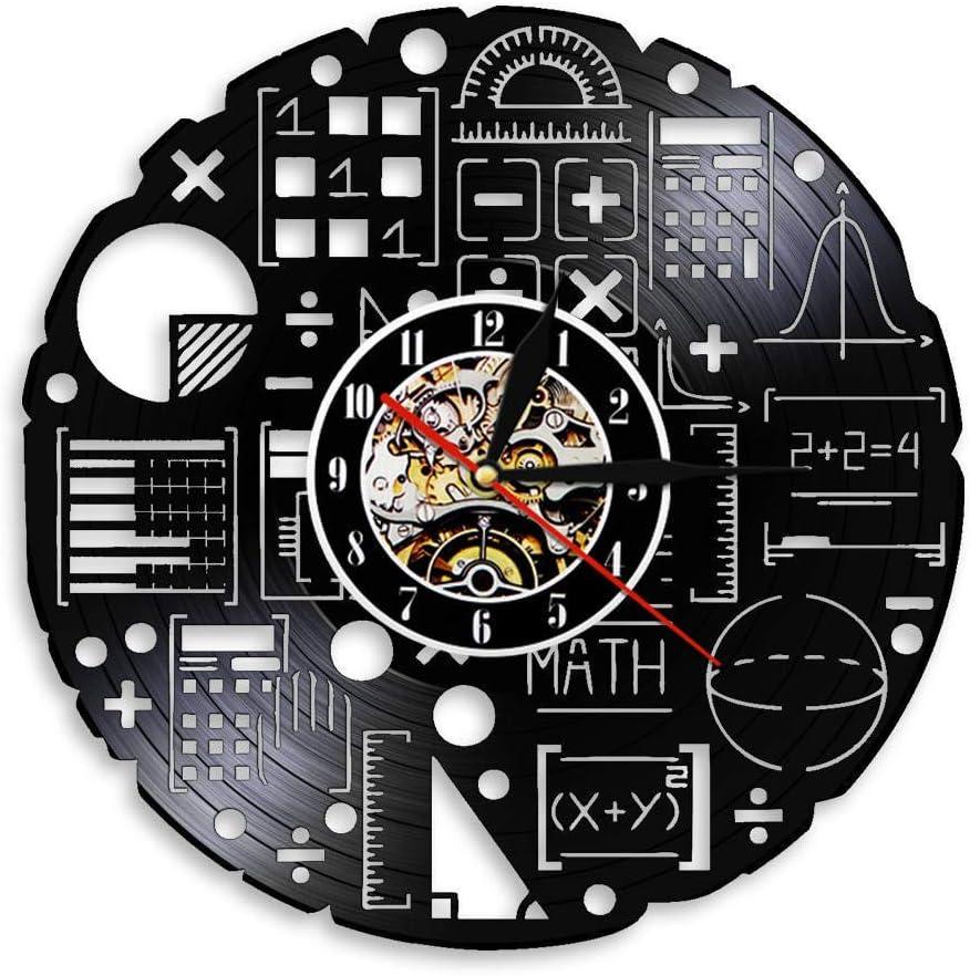 CVG Ecuación matemática Obra de Arte Ciencia Disco de Vinilo Reloj ...