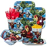 1 X Marvel Avengers Assemble Birthday Party Supplies Set Plates Napkins Cups Kit for 16