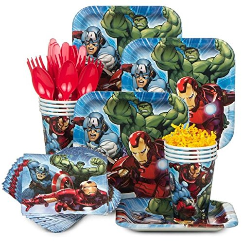 Marvel Avengers Assemble Birthday Party Supplies Set Plates Napkins Cups Kit for 16 for $<!--$19.99-->