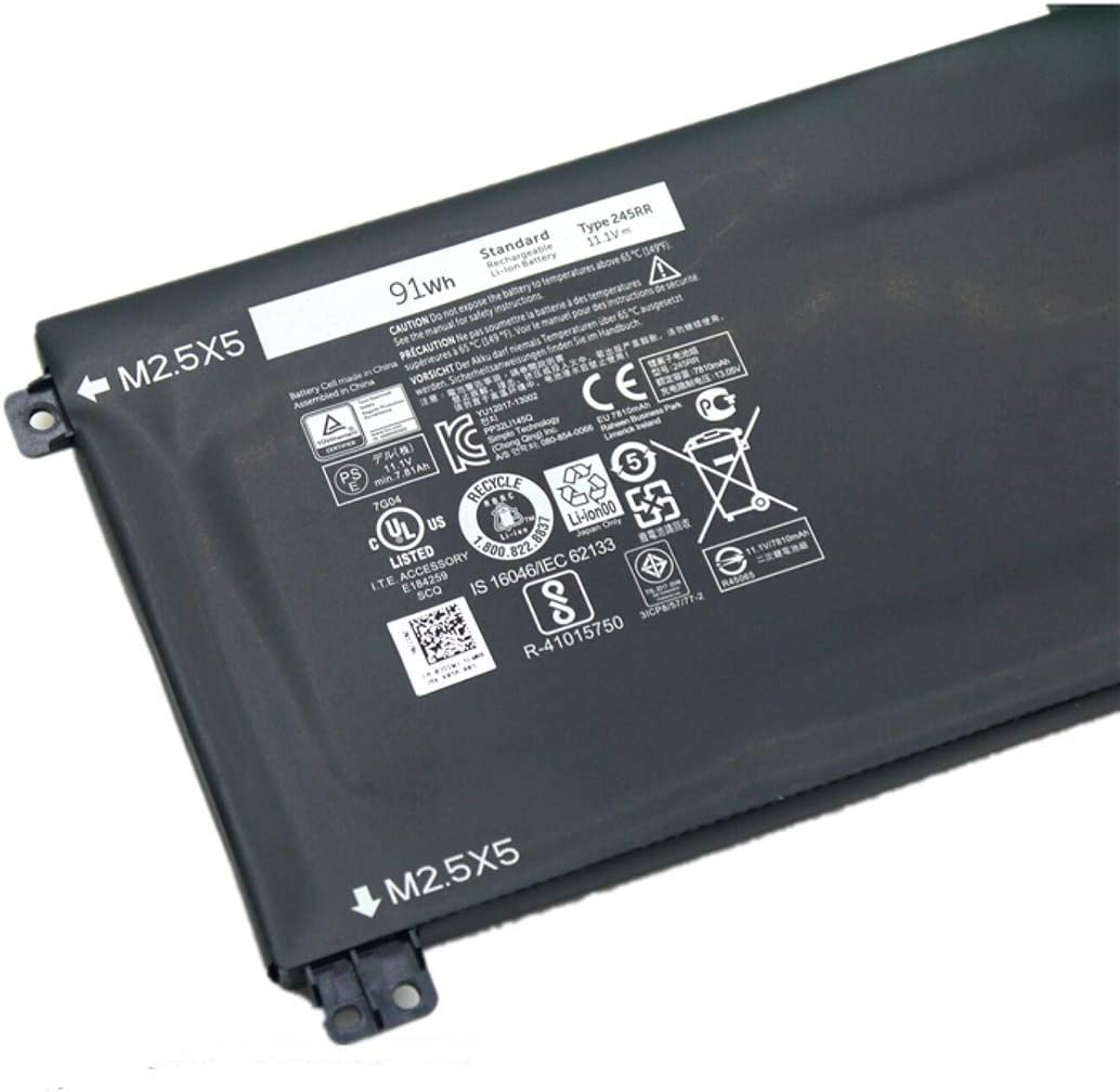 7XINbox 11.1V 91WH 9 Cell 245RR 7D1WJ Replacement Battery for Dell XPS 15 9530 Precision M3800 Laptop T0TRM H76MV 0H76MY 07D1WJ Y758W