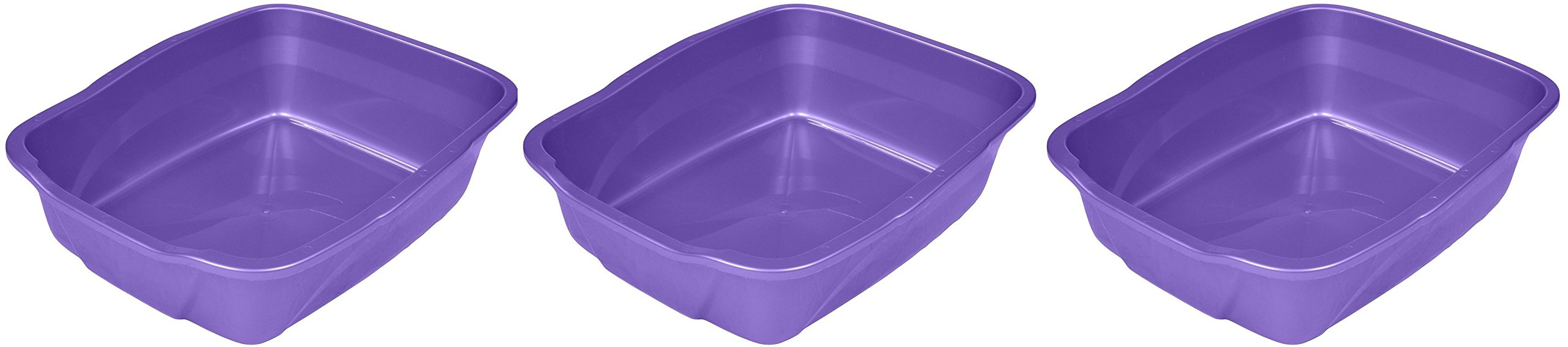 Vanness Cp2 Large Cat Pan 3 Pack Colors May Vary (Blue, Gray, Purple,)