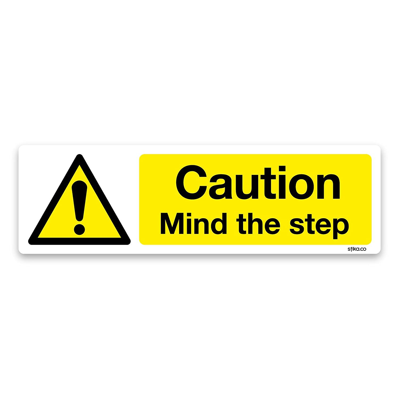 MIND THE STAIRS 200mm x 150mm hazard warning caution sign or sticker