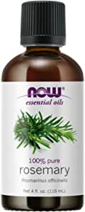 NOW Essential Oils, Rosemary Oil, Purifying Aromatherapy Scent, Steam Distilled, 100% Pure, Vegan, Child Resistant Cap, 4-Ounce
